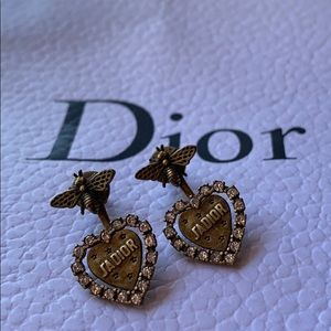 🐝🌟J'adior Aged Gold And Strass Bee Earrings🌟🐝